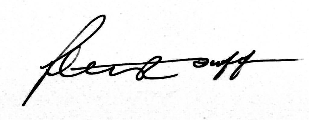Peter Duff Signature